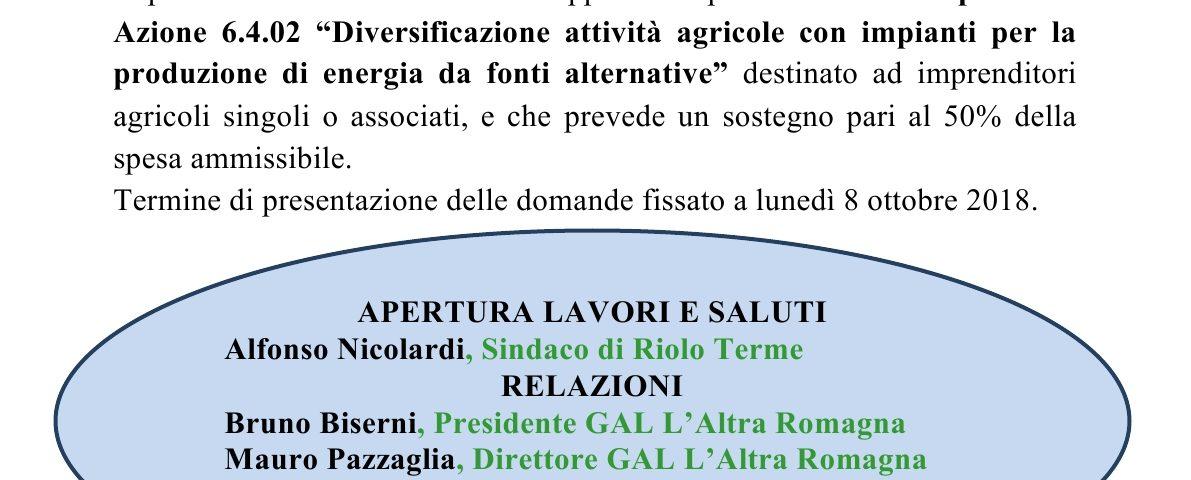 Locandina Incontro pubblico Riolo Terme 4 luglio 2018