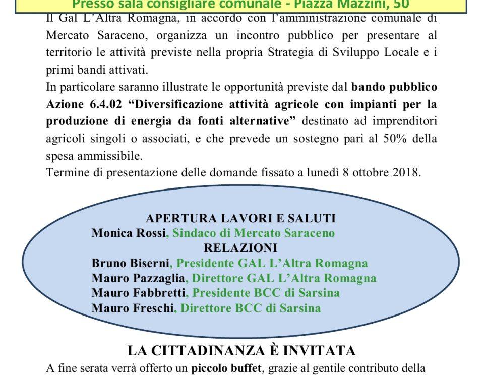 Incontro pubblico 11luglio -Mercato Saraceno