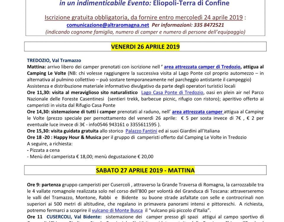 versione guidata itinerante Raduno terr. forlivese 26-28 apr.1