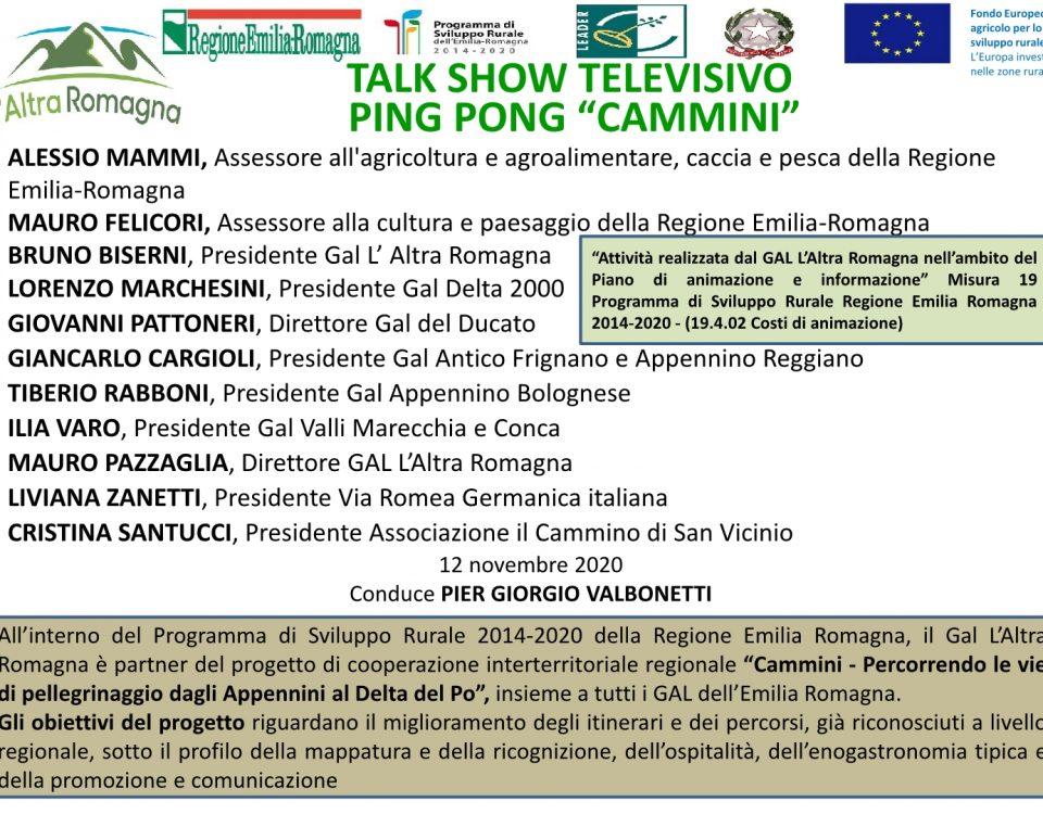locandina talk show tv Cammini1